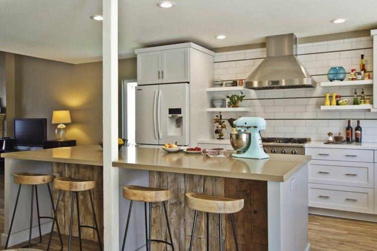 Barras de cocina de estilo retro modern kitchens - Cocinas retro ...