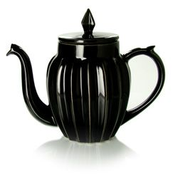 Lucky Star teapot in black porcelain, from Mariage-Freres