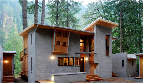 Eagle Rock Retreat Fine Homebuilding Cinder Block House Building A House Concrete Houses
