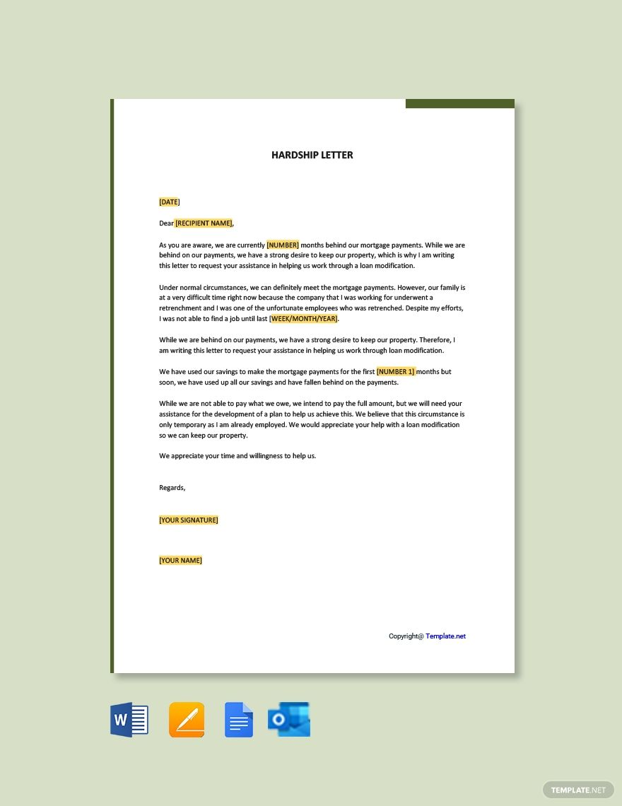 34+ Financial hardship letter to creditors inspirations