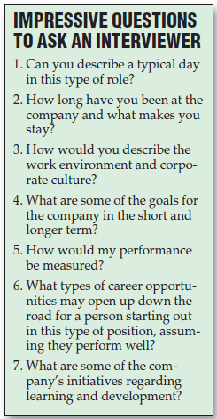 Questions to ask an interviewer…