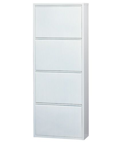 4 Tiered White Shoe Cabinet Shoe Storage 5207 84 Bench With