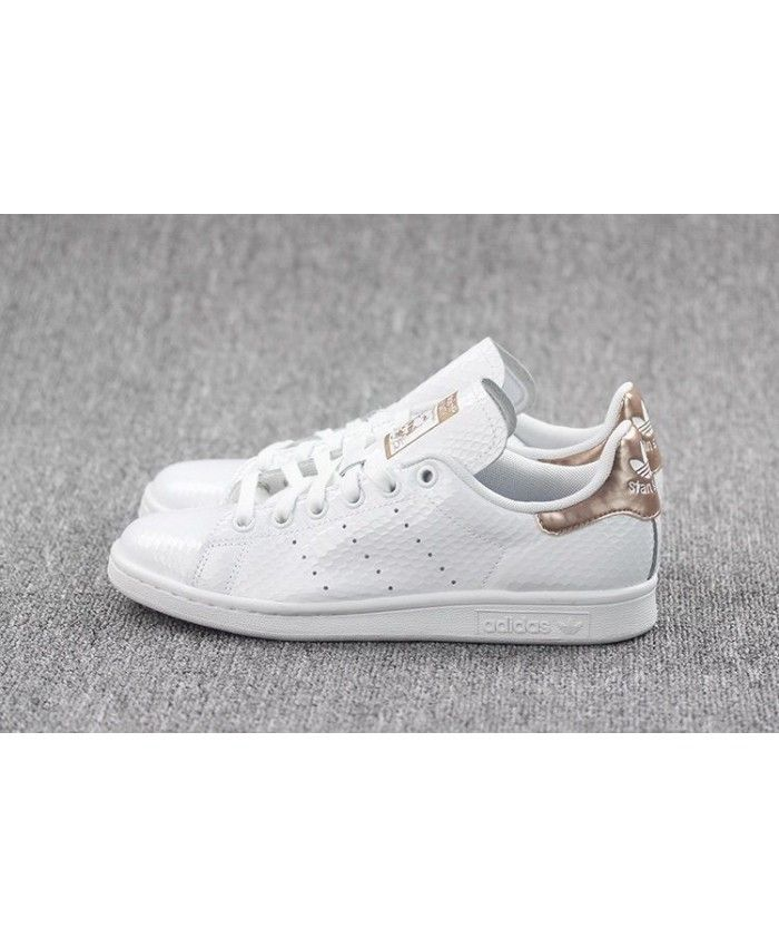 newest 3c2a2 423eb Adidas Stan Smith Rose Gold Argent Blanc