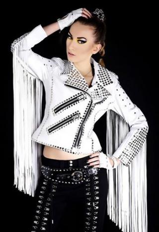 Arrow Women White fringe jacket 6yt51re Fringe leather