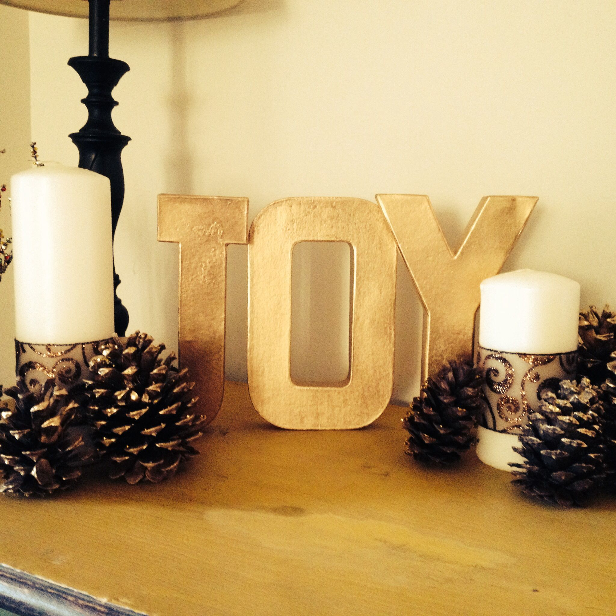 Easy Christmas Craft Candles And Block Letters From Hobby Lobby