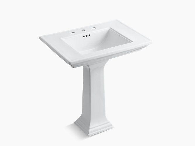 Pool Bath Pedestal Sink Kohler Memoirs Stately 30 K 2268 8 0 In
