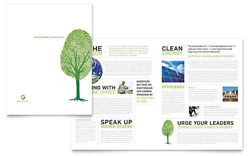 Environmental Non Profit  Brochure Template Design Sample  Good