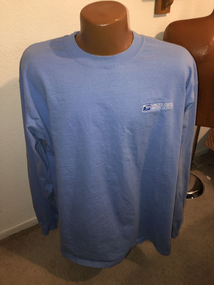 Usps Postal Worker Long Sleeve Light Blue T Shirt Size Xl Fashion Clothing