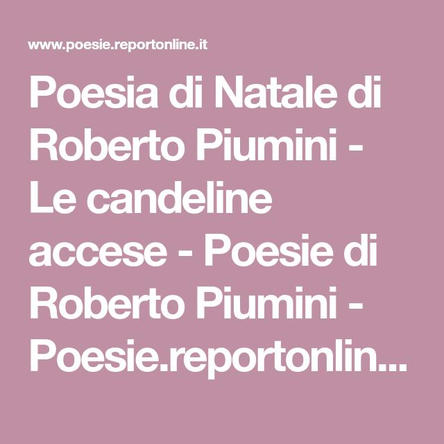 Poesie Di Natale Piumini.Poesia Di Natale Di Roberto Piumini Le Candeline Accese Poesie