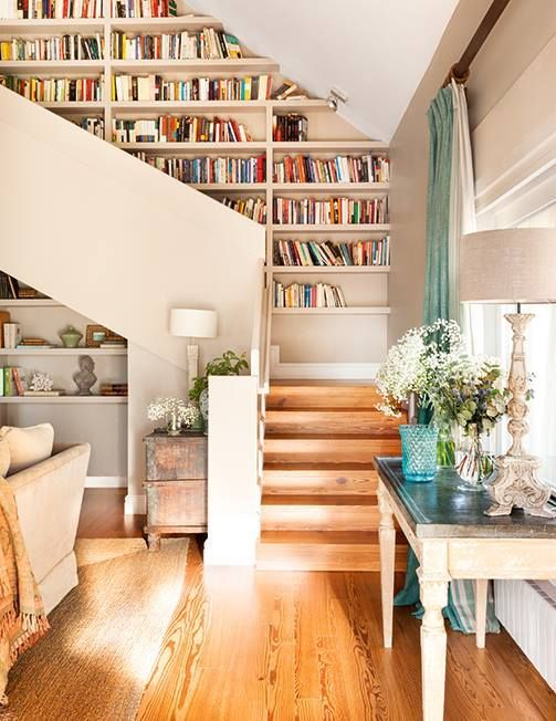 innovative ways to line your stairs with bookshelves also inspiring home interior decorating ideas design rh pinterest