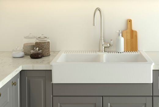 Farmhouse Kitchen Sink Ikea White double bowl farm sink with stainless steel color single lever ikea affordable sinkswhite double bowl farm sink with stainless steel color single lever kitchen faucet workwithnaturefo