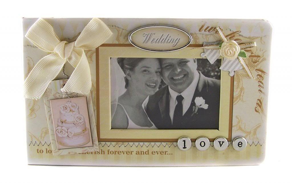 Embellished cover wedding scrapbook photo album 5x7 new