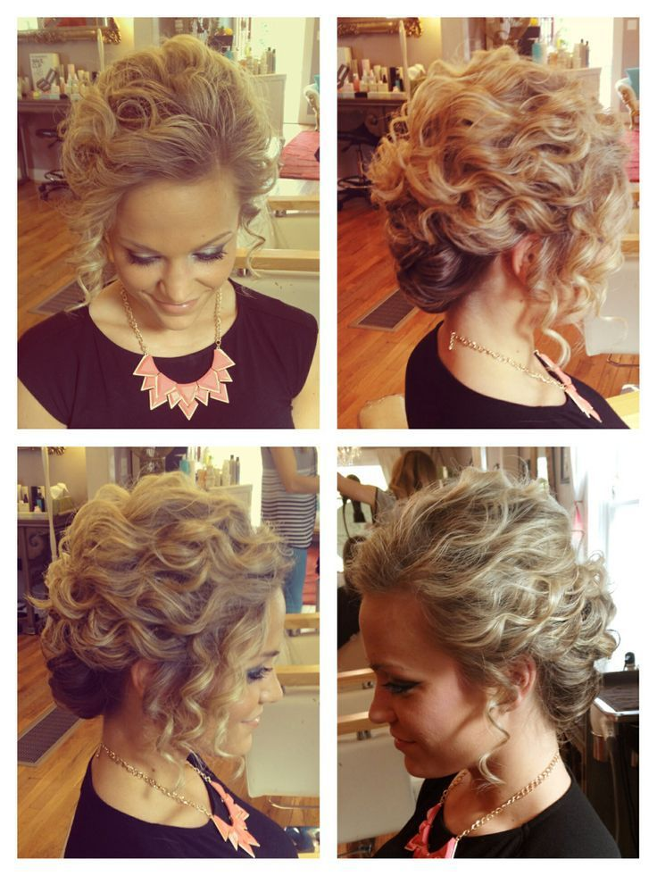 Prom Updos For Short Hair Short Hair Updo Hair Styles Curly Hair Styles Naturally