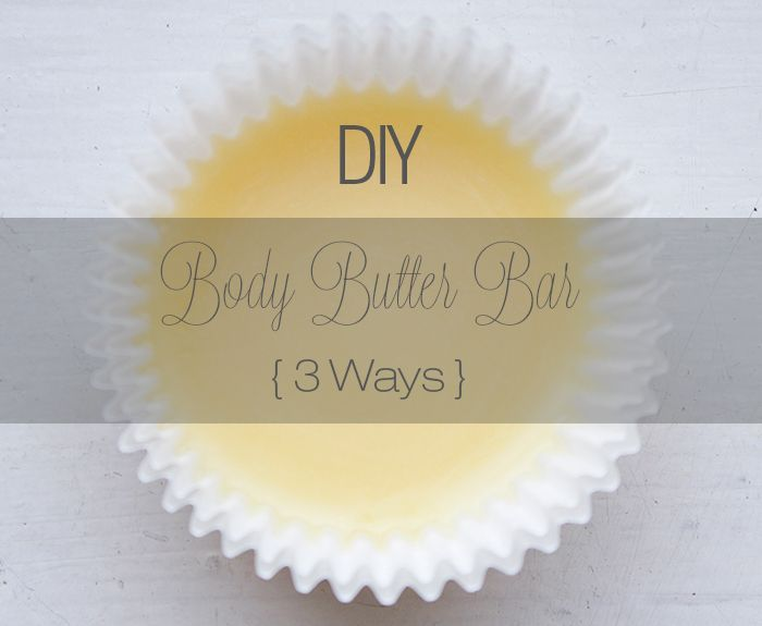What happens when you combine: cocoa butter + shea butter + mango butter? You get a Body Butter Bar that looks edible! via @Tanya Waddell Jolie
