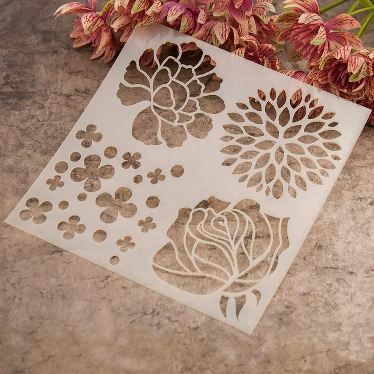 Flower Spray Painting Template Stencil for DIY Scrapbooking Album Paper Crafts