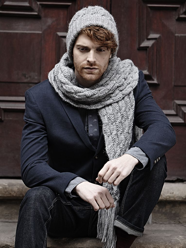 12 Dashing Mens Knit Scarf Patterns You Can Create Today | Pinterest