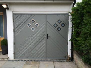 Glazed, Side Hinged Garage Doors London- Cerberus Doors UK | Side ...