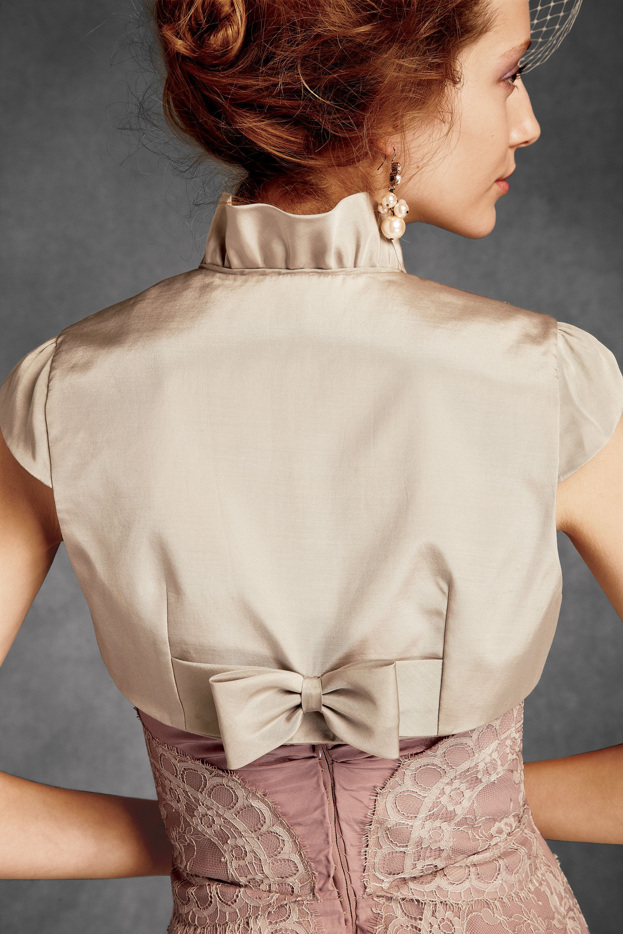 Back view of Bow-topped bolero by BHLDN | COSTURA | Pinterest ...