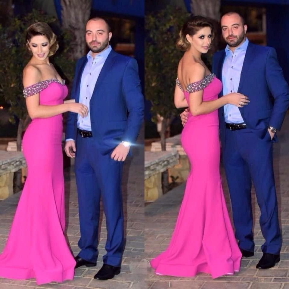 Click to buy ucuc hot pink mermaid prom dress low back sweep