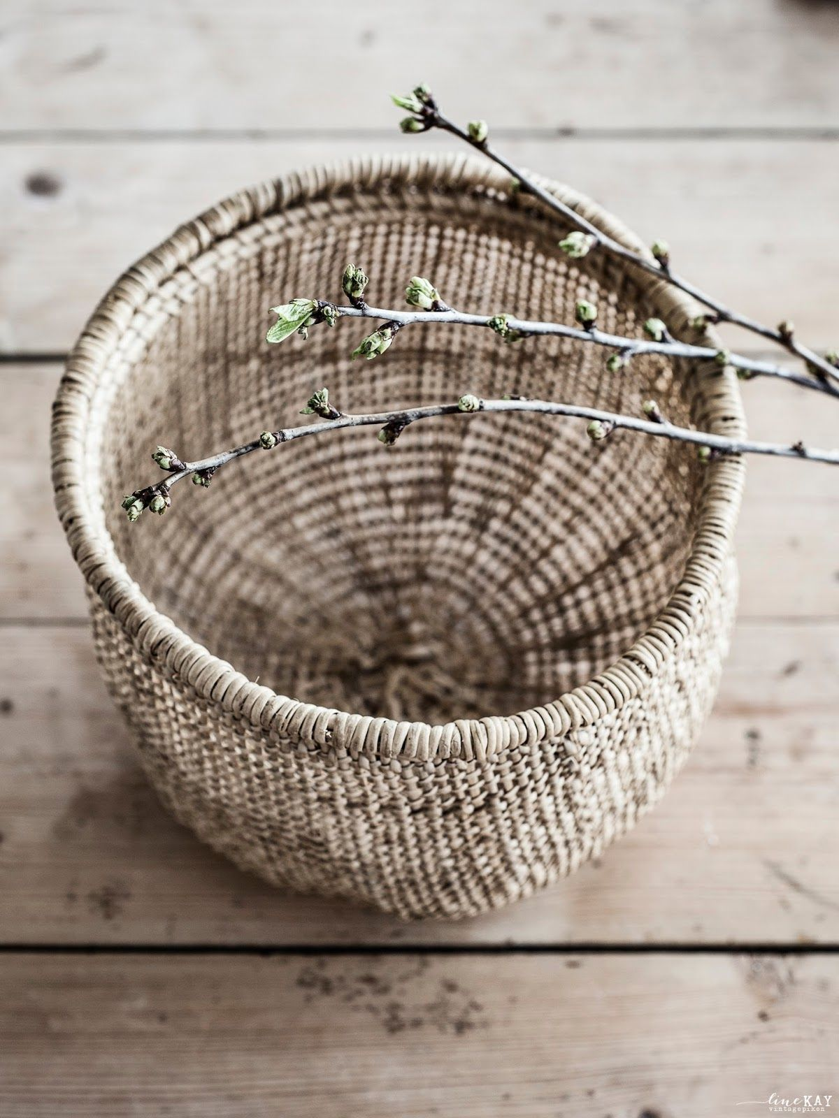 Vintagepiken Mars 2014 Basket Decorationwoven Basketswicker