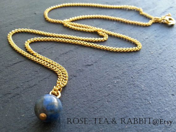 Lapis Lazuli Semi-Precious Ball Pendant Charm by RoseTeaAndRabbit https://www.etsy.com/uk/listing/203252397/lapis-lazuli-semi-precious-ball-pendant?ref=shop_home_active_1