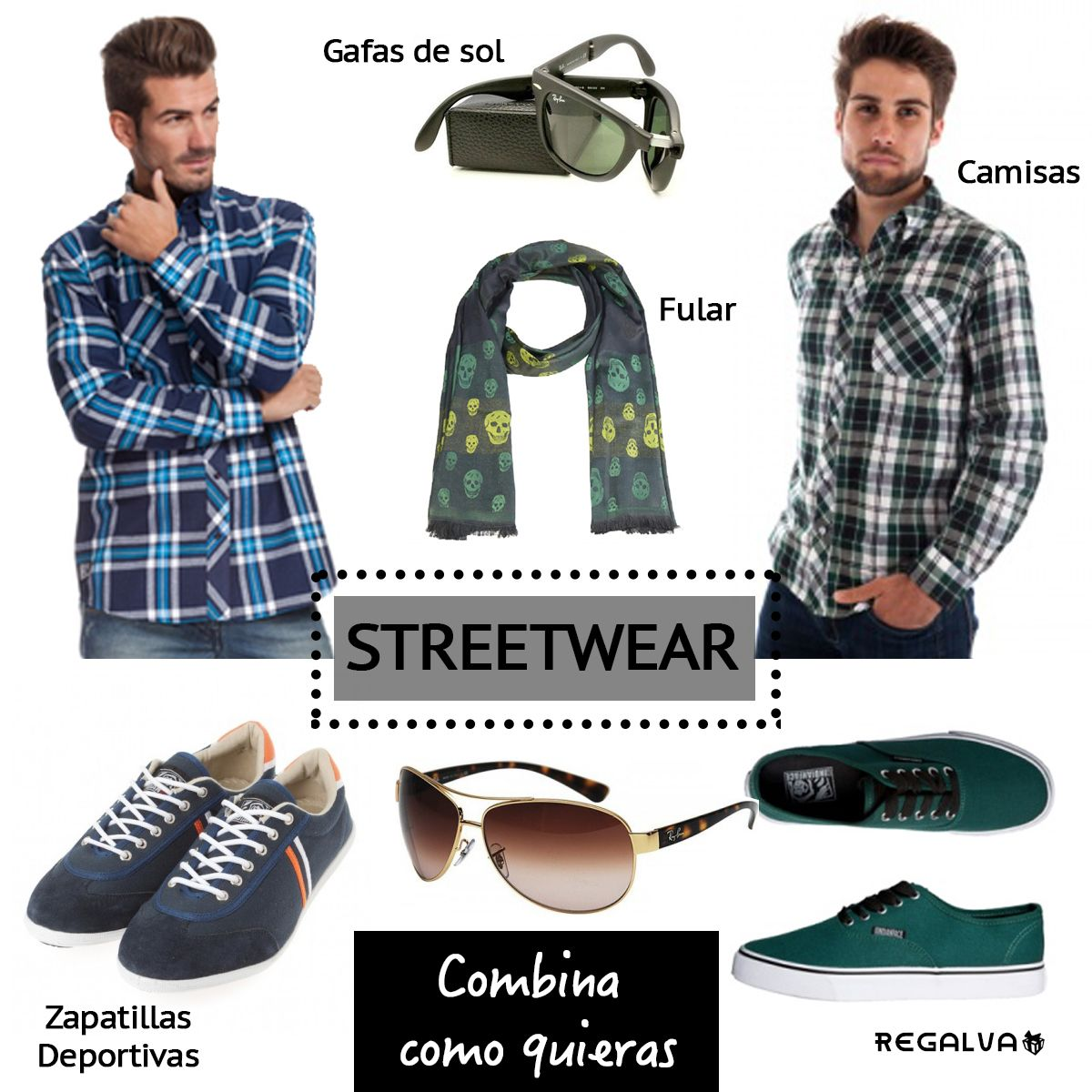 ropadehombre  camisas  gafasdesol  azul  verde  moda  ropa  tendencias   ropaurbana cab2748077c