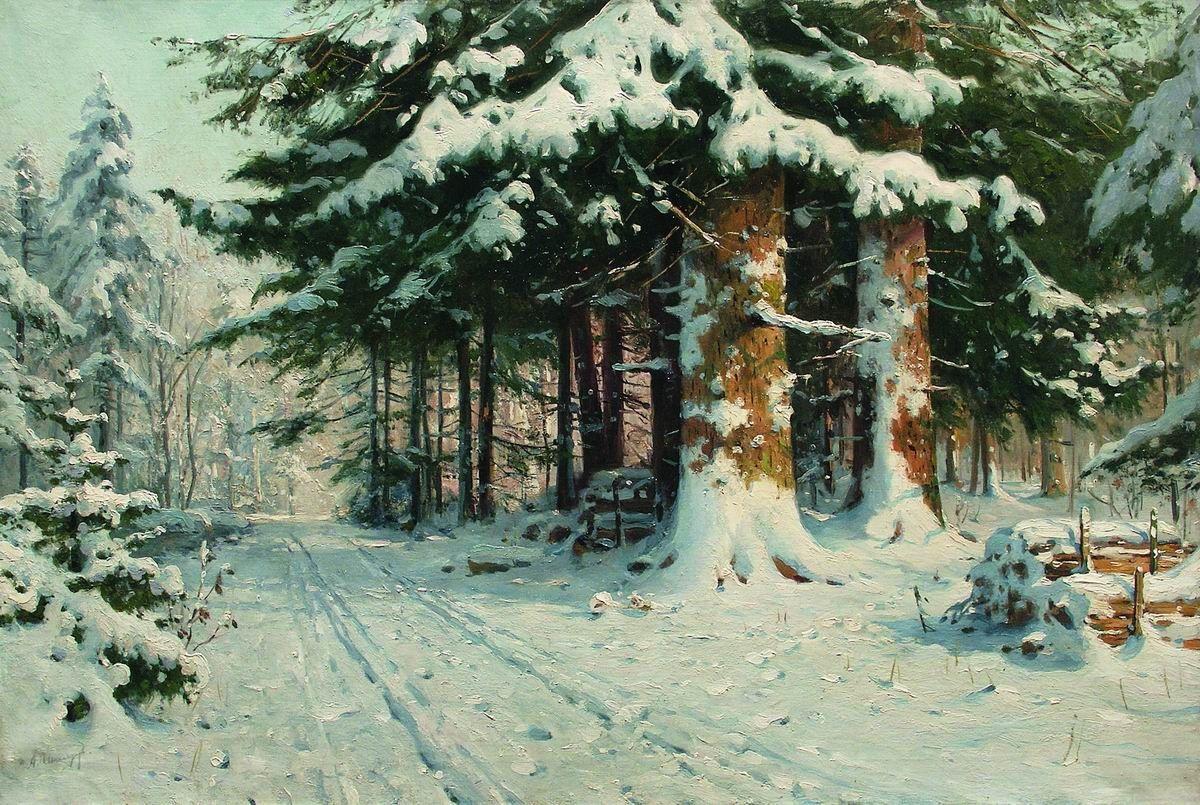 Картина шишкина зима