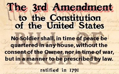 This is talking about the Third amendment. It is saying how ...