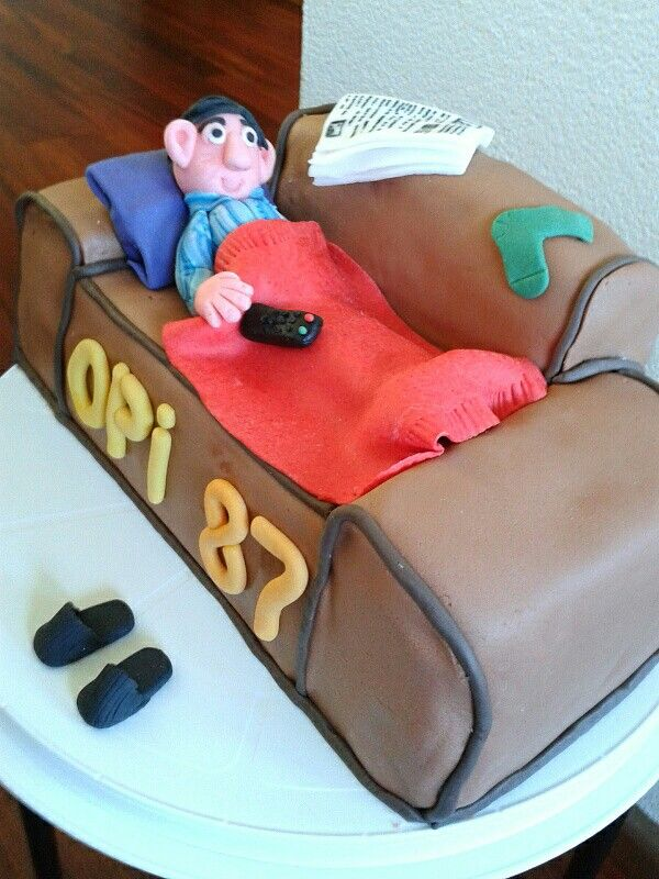 3D Couch cake Birthday cake made for my grandpa Cakes