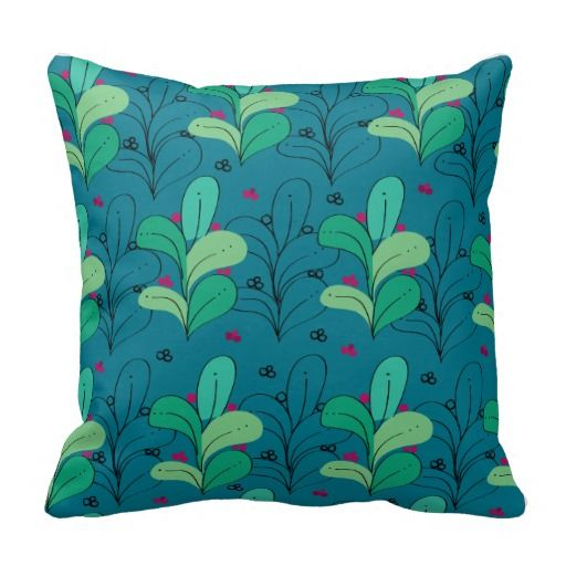 Seaweed design on pillow