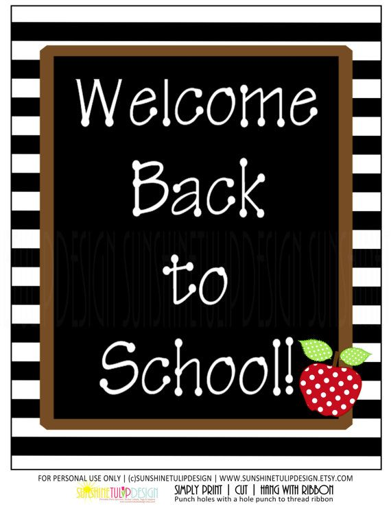 Printable Teacher Class Sign, Welcome Back to School, Door or Wall