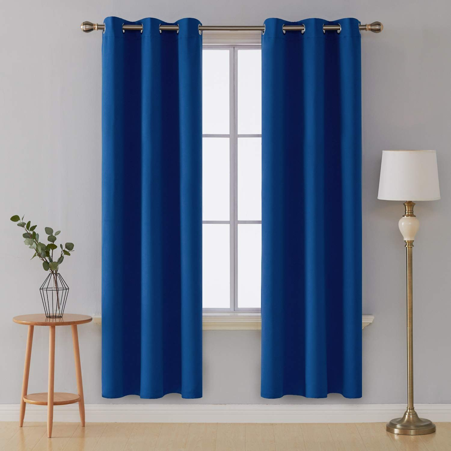 Deconovo Grommet Window Panels Thermal Insulated Curtains Room