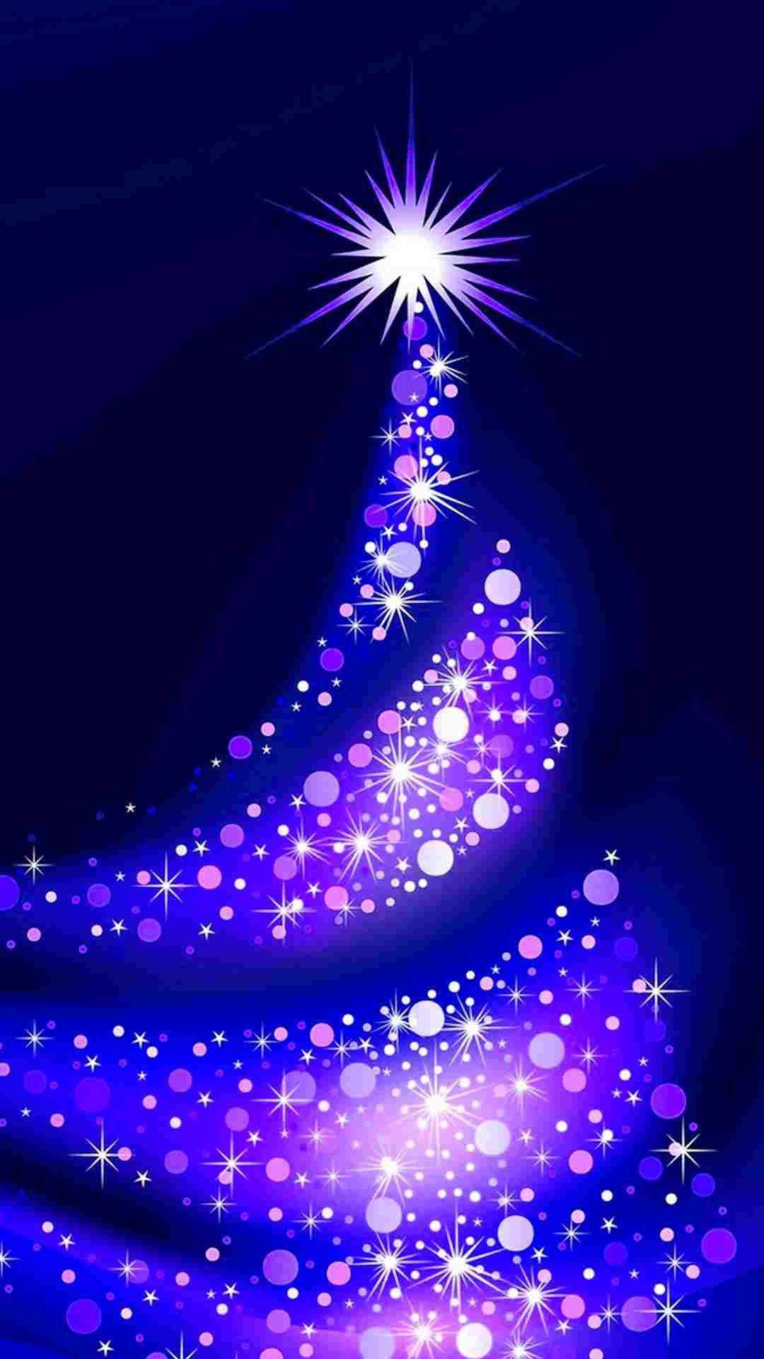 2014 purple christmas tree iphone 6 plus wallpaper stars - Purple christmas desktop wallpaper ...