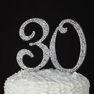 cake topper for birthday or anniversary silver rhinestone metal party supplies  decoration ideas also best th cakes images rh pinterest