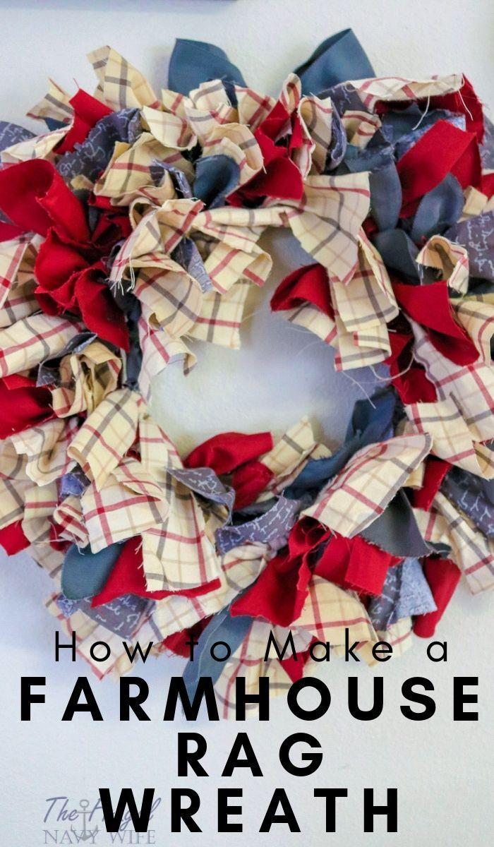 Photo of Farmhouse Rag Wreath DIY –  Let me show you how to do this super simple Farmhous…