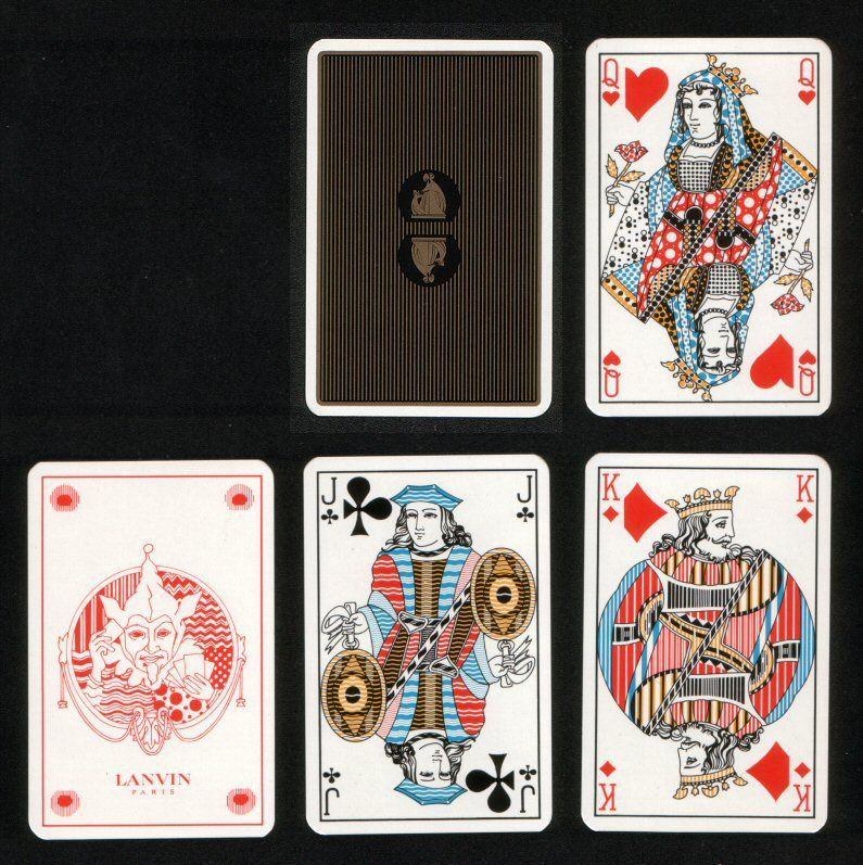 French Non Standard Playing Cards Courts Lanvin With Images