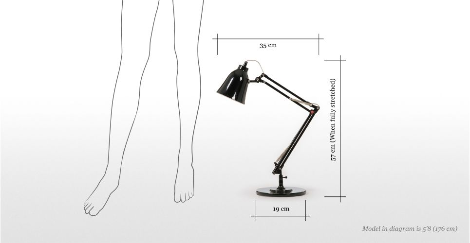 Jules Desk Lamp in shiny black | made.com 45 quid.  Just need to find somewhere for it!