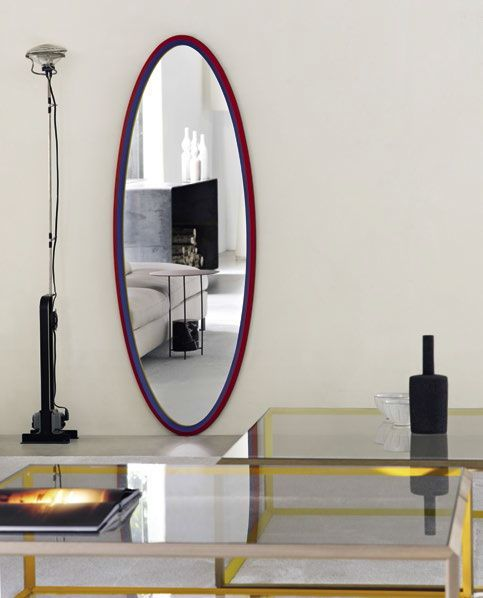miroir mural contemporain en bois jaune 45 by ron