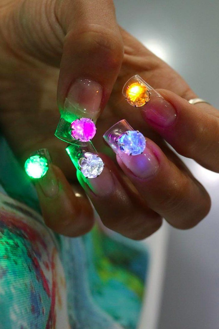 Nail Artist Put LED Disco Lights on Her Nails, Because Why Not?