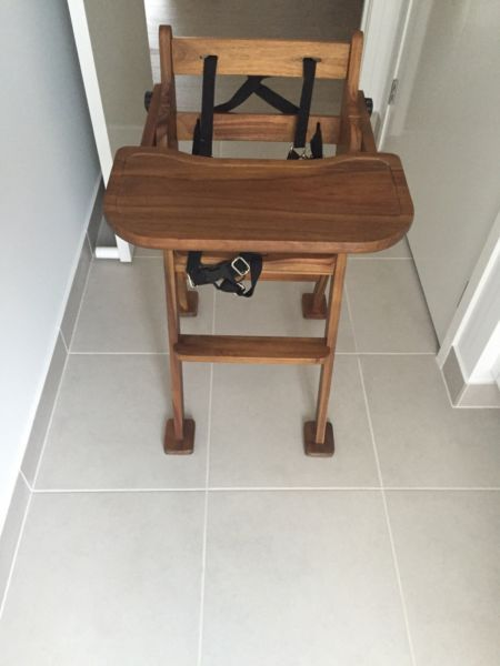 Wooden High Chair | Feeding | Gumtree Australia Outer Geelong - Ocean Grove | 1086825504 | High chair | Pinterest | Wooden high chairs High chairs and Ads & Wooden High Chair | Feeding | Gumtree Australia Outer Geelong ...