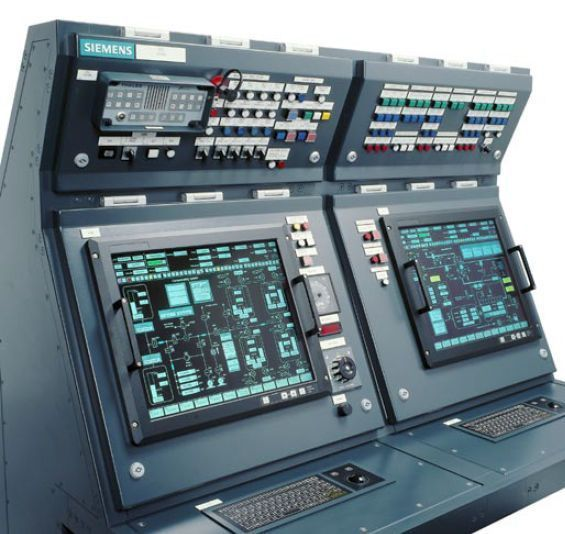 Monitoring And Control System For Ship Engine Room Emcs Siemens Ag Marine Solutions Control Panels Flight Simulator