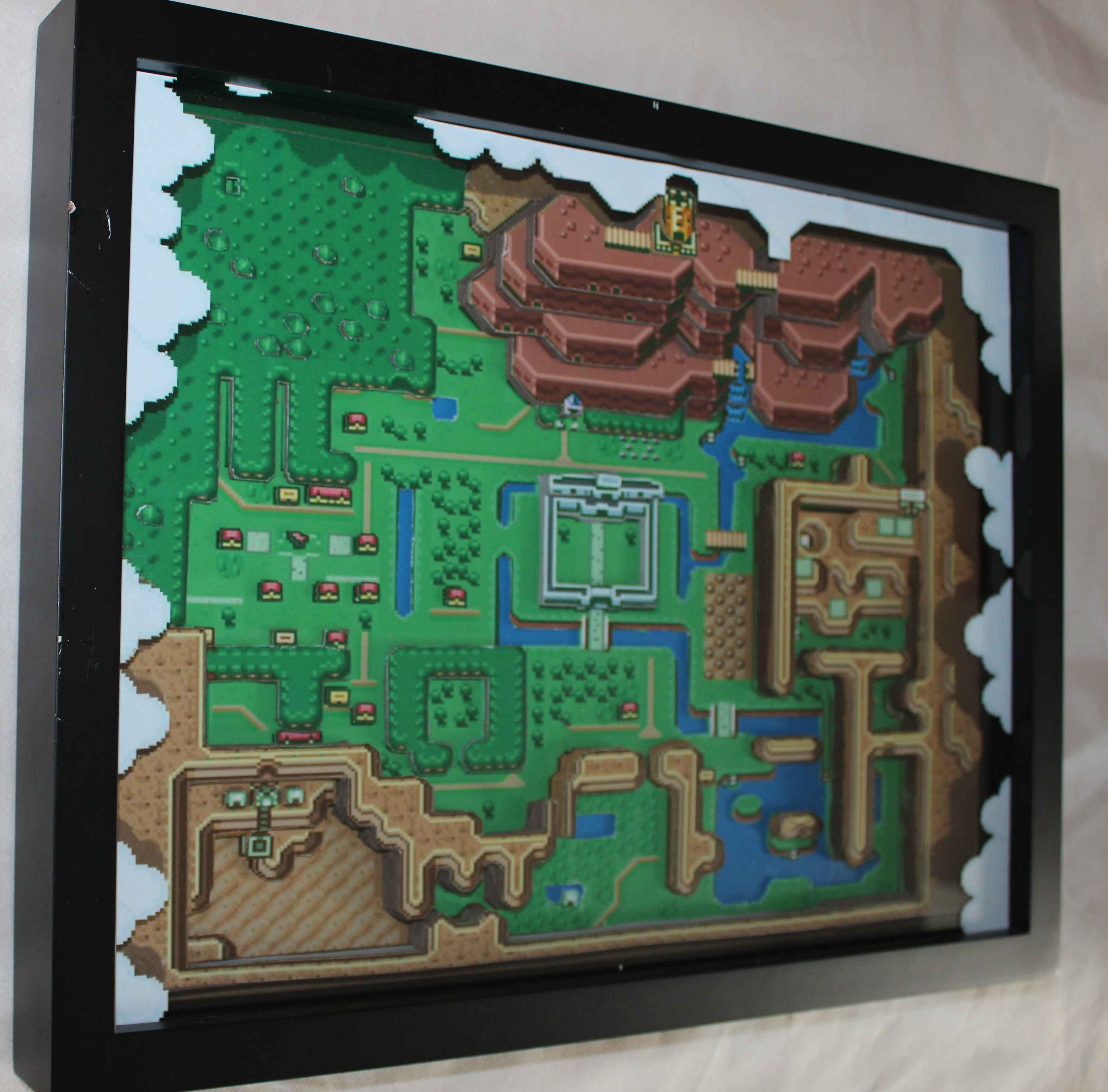 Zelda A Linkt To The Past 3d Paper Diorama 3d Papercraft Paper Diorama Paper Crafts