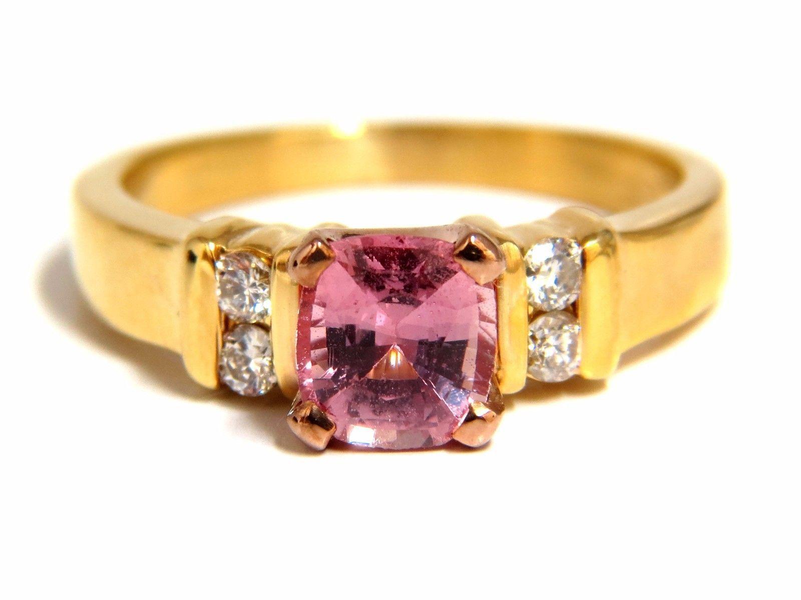 Gia certified ct natural no heat padparadscha sapphire diamonds