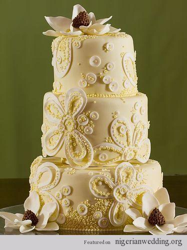 Stunning Vintage Lace Wedding Cake Ideas   Nigerian Wedding