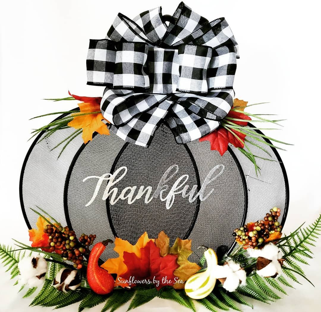 "Sunflowers by the Sea on Instagram: ""Dollar Tree Splatter Screen Fall Decor"