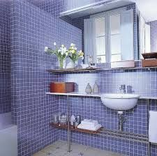 Azulejo Creativo Banos Bathroom Gresite Azul Blue Baneras