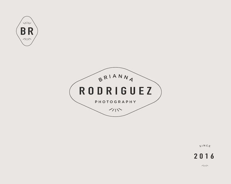 Hayleybrooksstudio Briannarodriguez Branding Submarks Jpg Graphic Design Branding Branding Design Inspiration Photography Branding