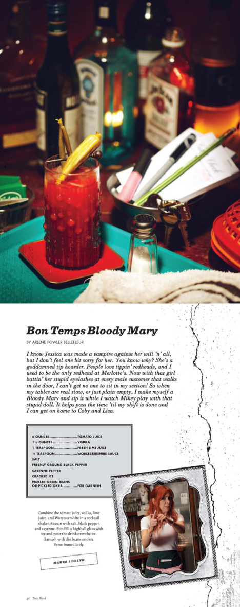 True Blood's... Bon Temps Bloody Mary++++Death on the Beach drink recipes
