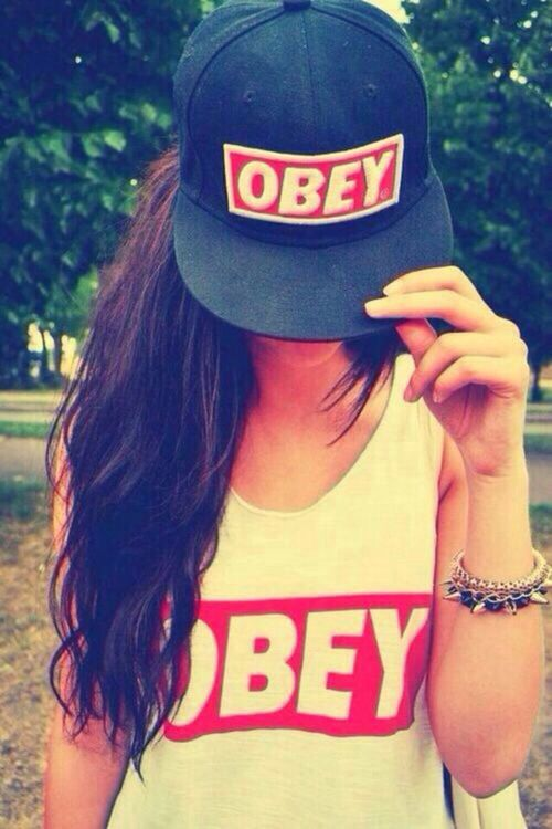 Obey Girl And Cap Image Fashion Obey Cap Cap Girl