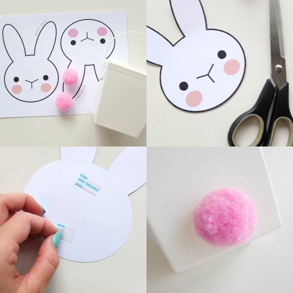 Bunny takeaway box with printable negle Images
